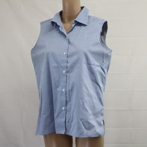 AS IS Talbots sz 10 Sleeveless Chambray Blouse
